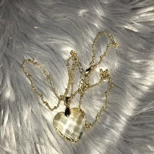 Clear heart necklace